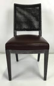 set of eight cerused oak calipso dining chairs by b u0026b italia for