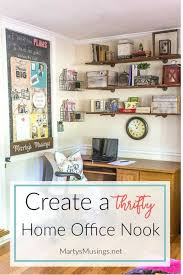 Create An Organized And Thrifty Home Office Nook Martys Musings - Thrifty home decor