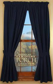 Blue Green Curtains Navy Blue Tieback Curtain Panels