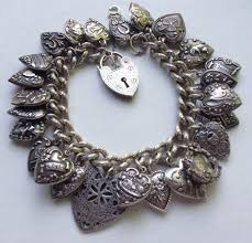 echarmony charm bracelet collection vintage puffy heart charms