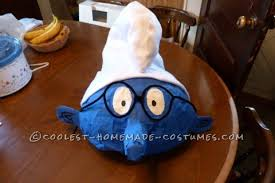Smurf Halloween Costumes Coolest Homemade Papier Mache Smurf Halloween Costume