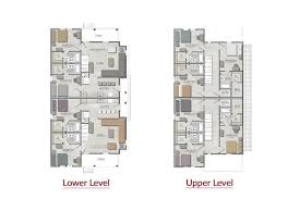Duplex Floor Plan by The Cottages Of College Station Five Bedroom Apartments Tamu