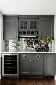 kitchen gray glass tile black subway tile kitchen backsplash