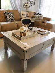 Painted Coffee Table Chalk Painting Coffee Table Makeover Decorating On A Budget