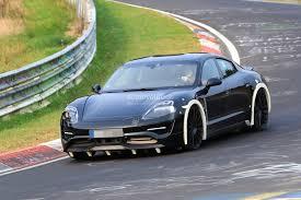 electric porsche panamera spyshots 2019 porsche mission e electric sports sedan tackles the