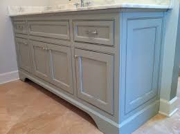 vanity in distressed sherwin williams aloof grey inspired decor
