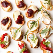 canapes and nibbles crostini