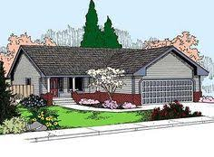 small ranch house plan two bedrooms one bathroom plan 109