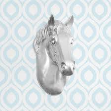 fake horse head the wrangler in silver faux horse head fauxidermy animal