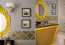 yellow bathroom ideas how to get a trendy and refreshing gray and yellow bathroom