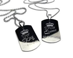 his and hers dog tags personalized couples mini dog tag king his