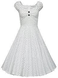vintage 1950s style midi swing party dress pale blue white