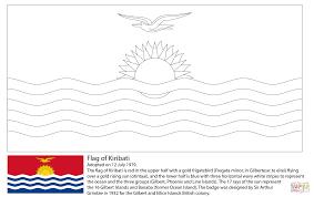 flag of kiribati coloring page free printable coloring pages
