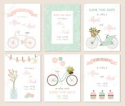 save the date baby shower collection of 6 card templates wedding marriage save