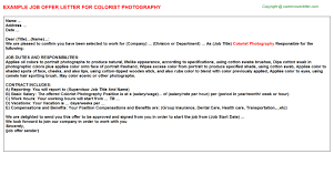 photography internship offer letters