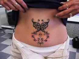 sketch belly button tattoos designs
