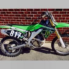 cheap used motocross bikes for sale 2006 kawasaki kx 250f monster energy dirt bike blk green white