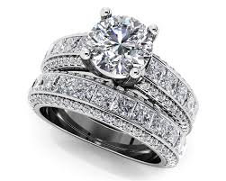 diamond wedding ring sets customize your wedding set matching diamond bridal set