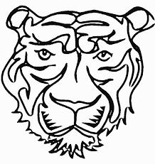 dessins de tigre à colorier