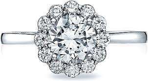 tacori halo engagement rings tacori bloom halo engagement ring 552rd