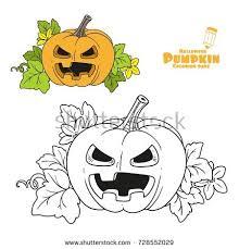 lantern pumpkin cut out terrible grin stock vector 728552035