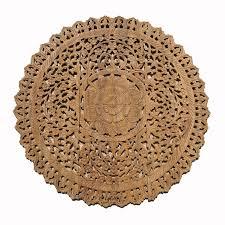 mandala wood carving wall panel decor siam sawadee