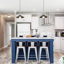 blue kitchen island and white cabinets kitchen photos of mobile and modular homes clayton homes