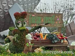 Mickey Mouse Topiary Epcot Future World Topiaries U0026 A Couple Characters U2013 The Geek U0027s