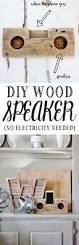 diy wood speaker no electricity needed diy speakers diy wood