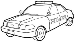 Police Cars Coloring Pages Car Free Printable  botanicsinfo