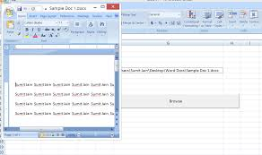 excel vba open a ms word document using excel file using