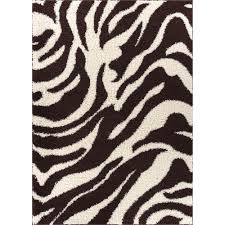Brown Zebra Area Rug Well Woven Shag Safari Zebra Brown 6 Ft 7 In X 9 Ft 10