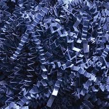 gift basket shredded paper crinkle cut paper shred gift basket filler navy blue 3 5 oz new