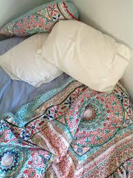 tribal pattern bedding pink purple and rust orange chevron