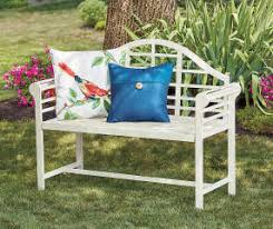 Steel Garden Bench Wilson U0026 Fisher White Jasmine Metal Garden Bench Big Lots
