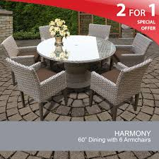 Patio Table 6 Chairs Grey Wicker Dining Set Patio Dining Table And Chairs