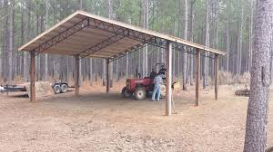 open shelter and fully enclosed metal pole barns smith built