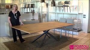 tavolo allungabile 4x4 ozzio pozzoli living u0026moving youtube