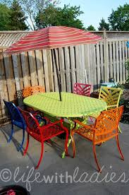 Ideas For Garden Furniture by Best 25 Painted Patio Furniture Ideas On Pinterest Painting