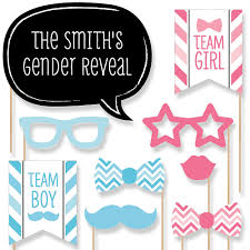 photo booth prop chevron gender reveal 20 photo booth props kit