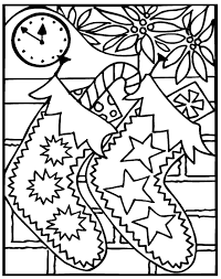 hard coloring pages for christmas christmas coloring pages