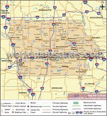 iowa map with cities road map of iowa iowa road map