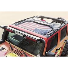 Car Antenna Flags Rugged Ridge 13579 14 Eclipse Sun Shade Front American Flag