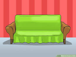 How To Make A Slipcover For A Sectional 3 Ways To Cover A Sofa Wikihow