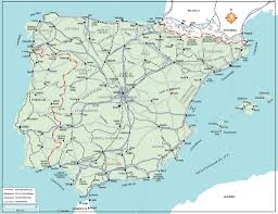 Andalucia Spain Map by Free Camping Rough Guides