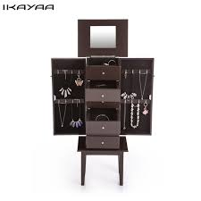 Mirrored Bedroom Furniture Uk by Aliexpress Com Buy Ikayaa Antique Standing Jewelry Armoire