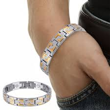 bracelet magnetic wristband images Stainless steel bracelet men gold color chain magnetic bracelet jpg