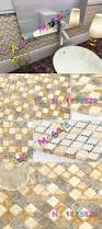 beige stone tile interior decorating crackle glass mosaic tiles