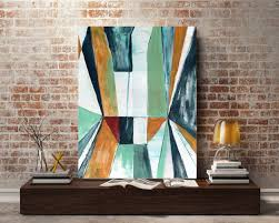 Painting Block Walls Interior Original Abstract Painting Linear Block Abstract Art Block