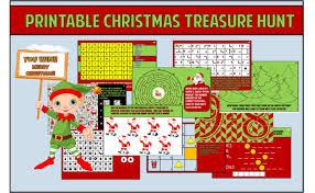 kids christmas treasure hunt party game printable